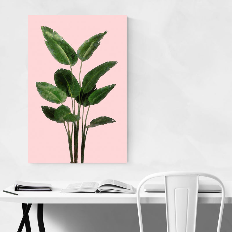 Bird of Paradise Plant Botanical Metal Art Print