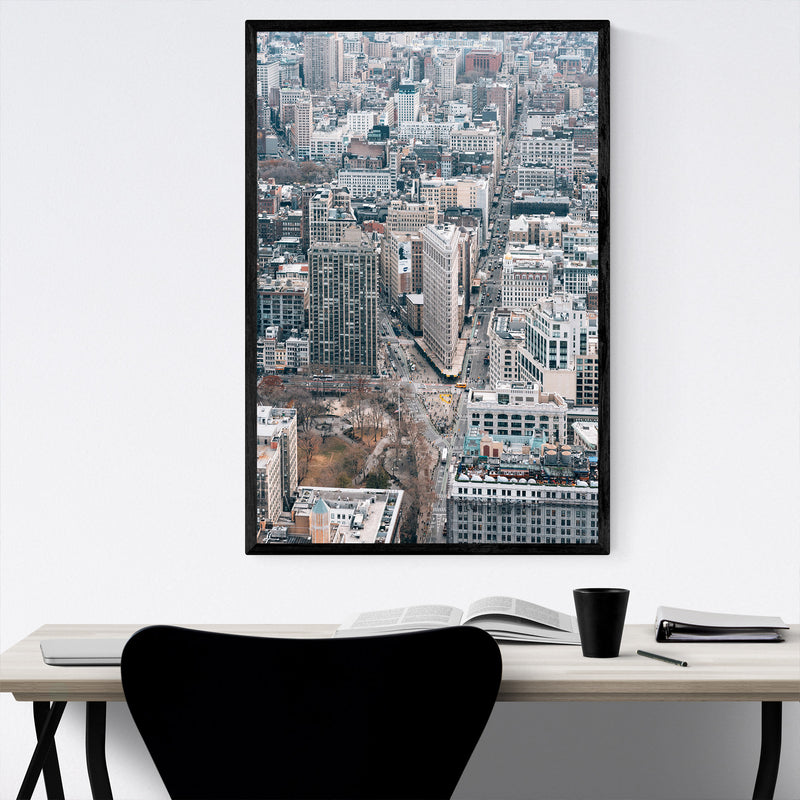 Flatiron View New York City NYC Framed Art Print