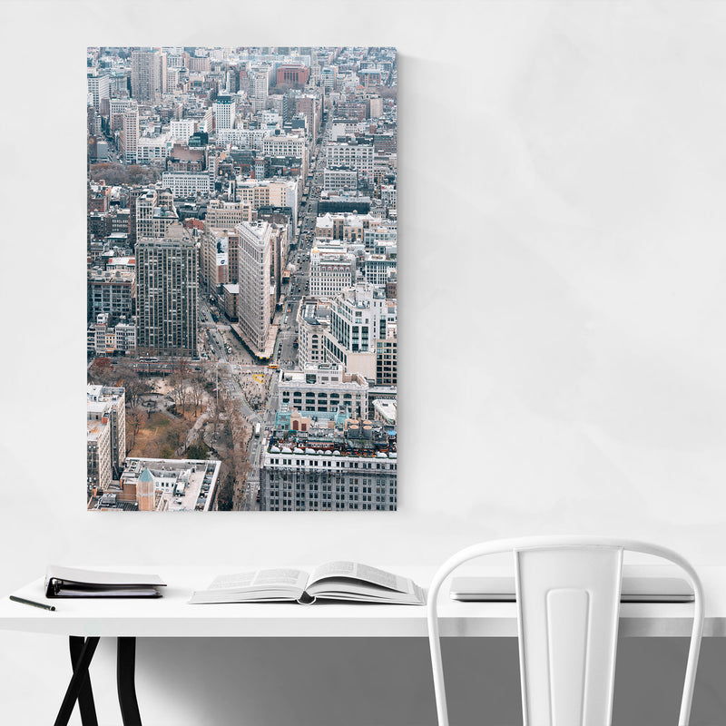Flatiron View New York City NYC Metal Art Print
