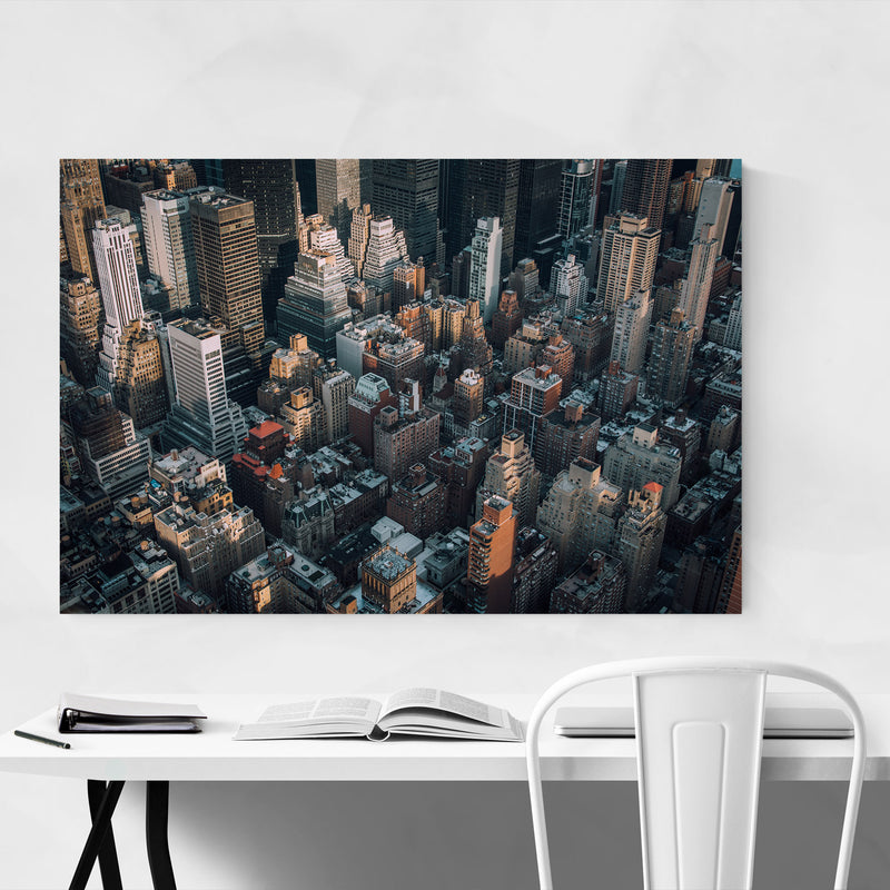 Midtown Manhattan New York NYC Metal Art Print