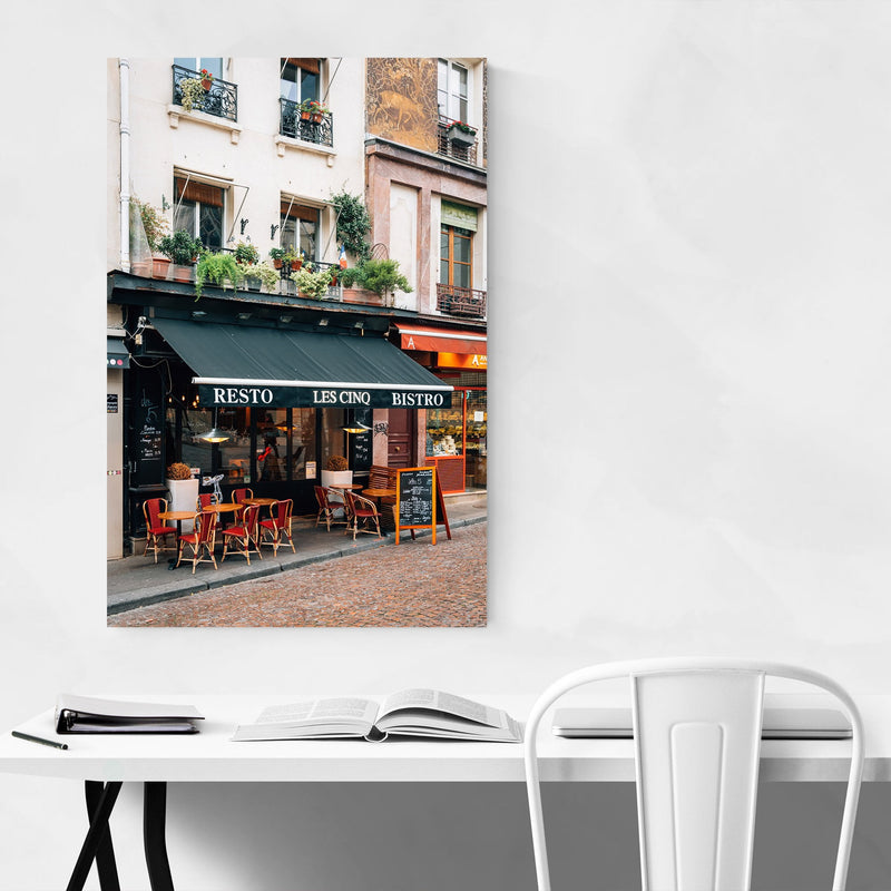 Bistro Latin Quarter Paris City Canvas Art Print