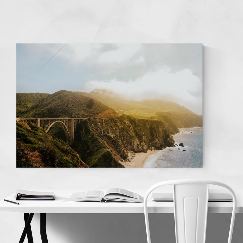 Bixby Bridge Big Sur California Metal Art Print
