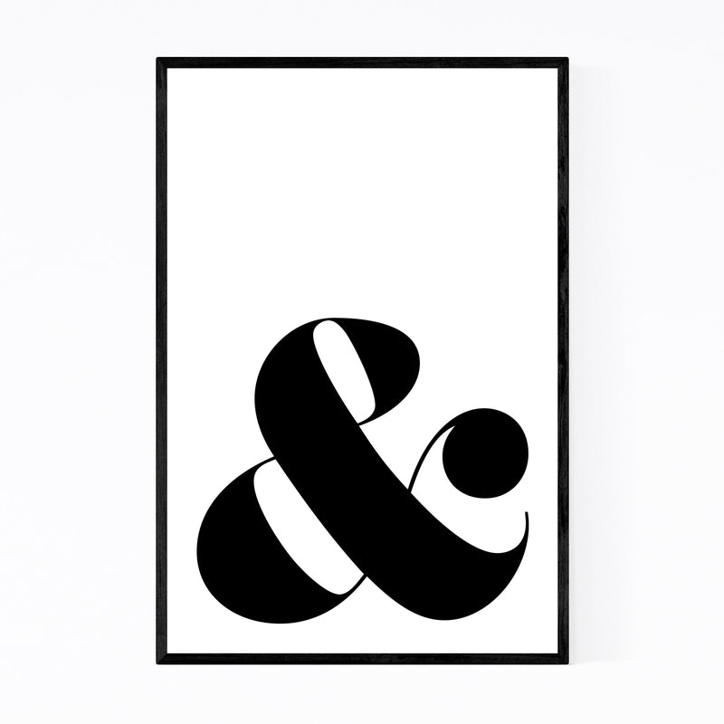 Minimal Ampersand Typography Framed Art Print