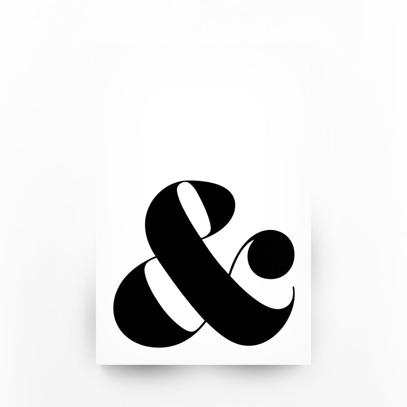 Minimal Ampersand Typography Canvas Art Print