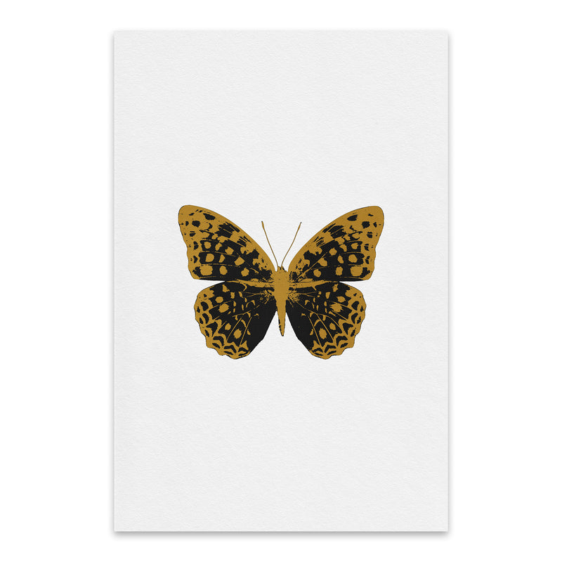 Butterfly Animal Insect Collage Metal Art Print
