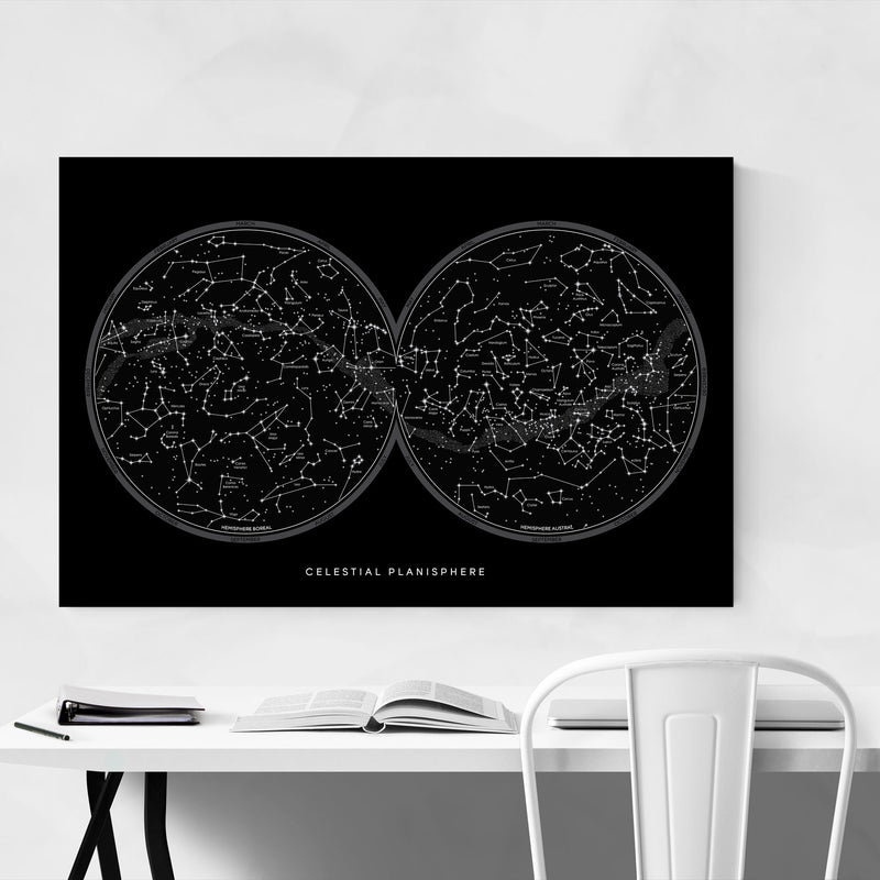 Minimal Night Sky Constellations Canvas Art Print