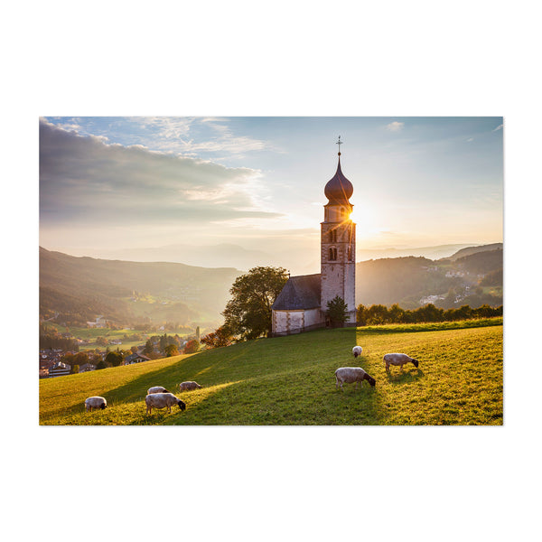 Castelrotto Church Farm Italy Art Print