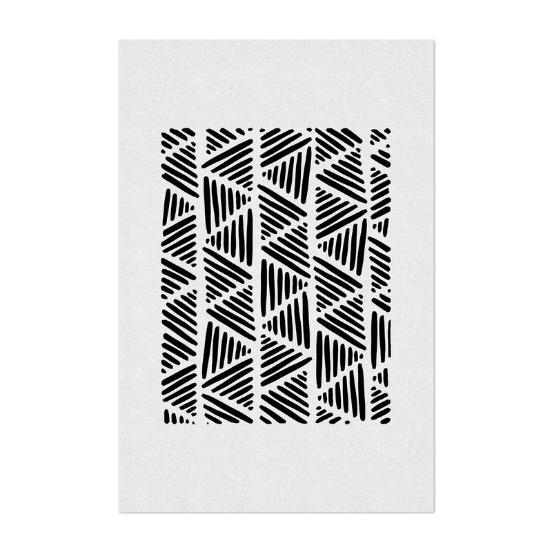 Minimal Abstract Triangle Line Art Print