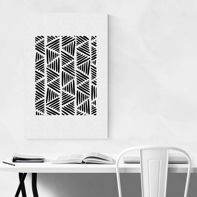Minimal Abstract Triangle Line Canvas Art Print