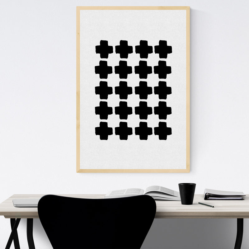Minimalist Abstract Geometric Framed Art Print