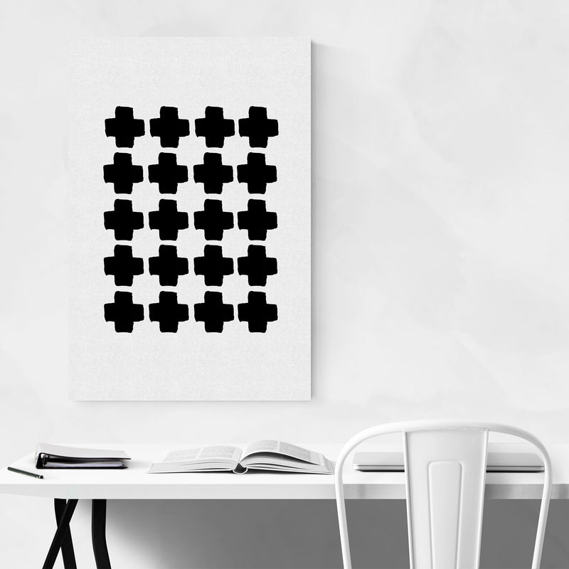 Minimalist Abstract Geometric Canvas Art Print