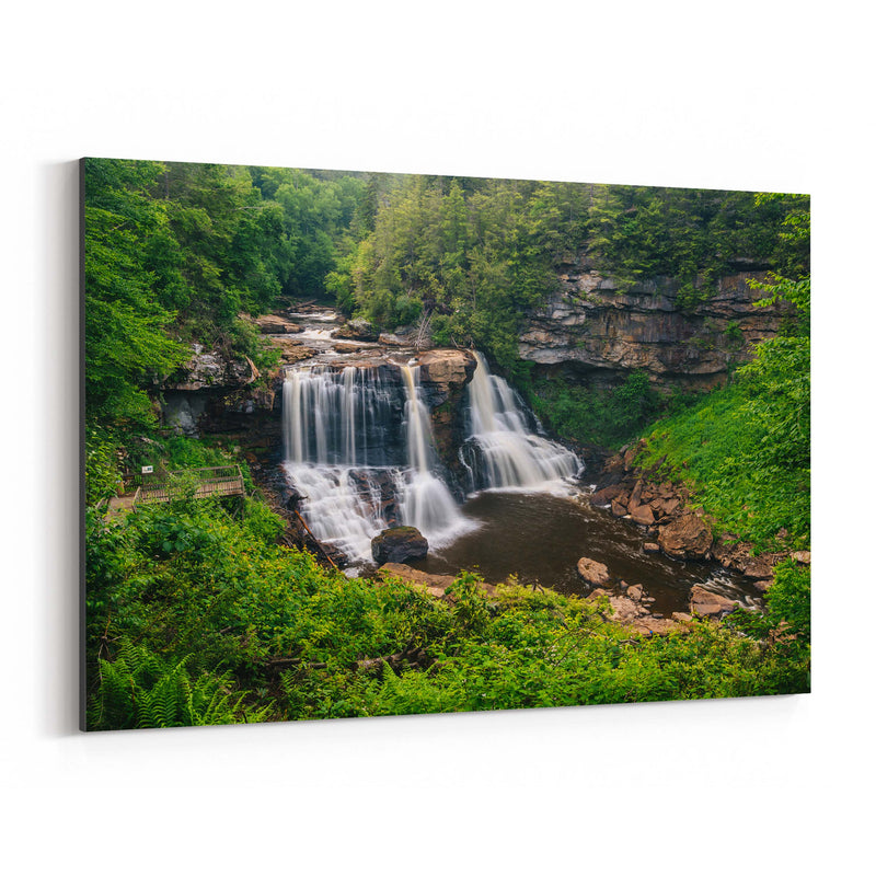 West Virginia Waterfall Nature Canvas Art Print