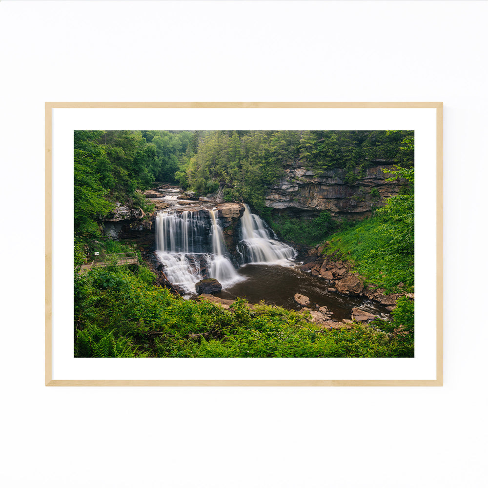 West Virginia Waterfall Nature Framed Art Print