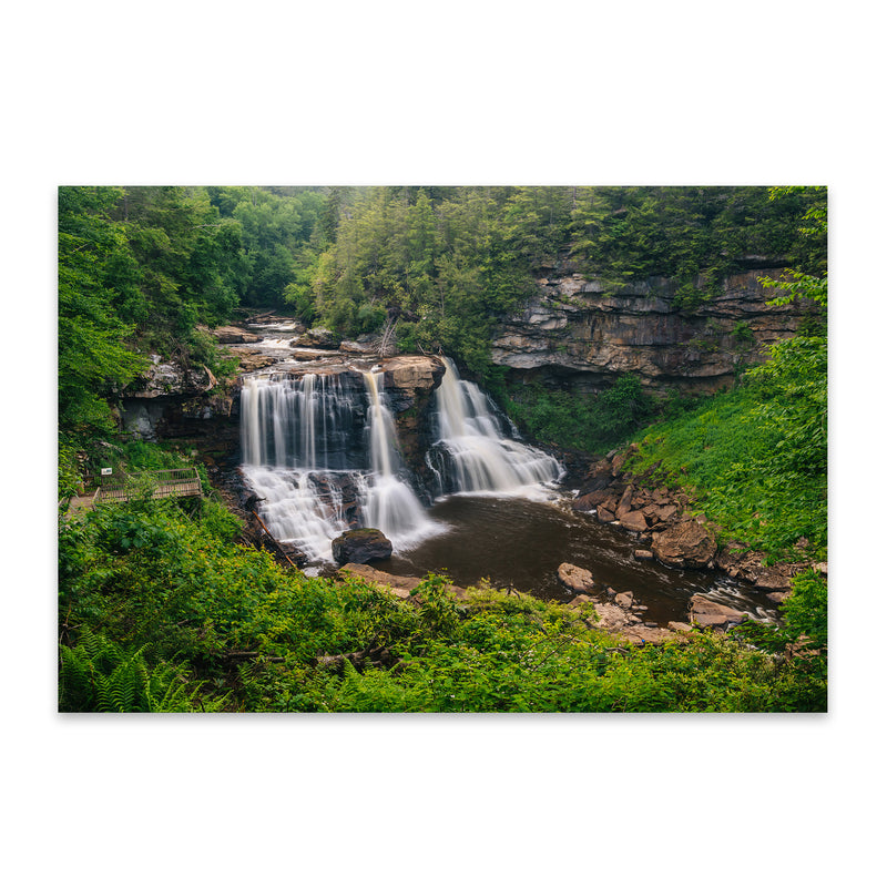 West Virginia Waterfall Nature Metal Art Print