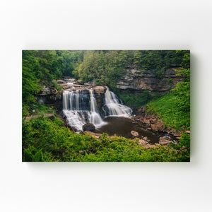West Virginia Waterfall Nature Mounted Art Print