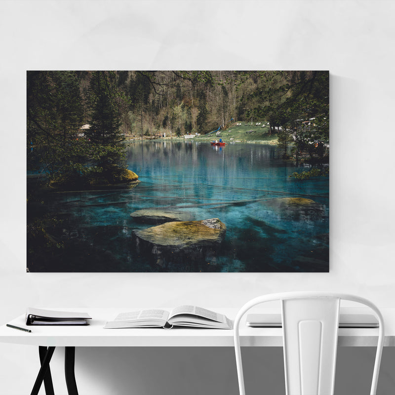 Swiss Alps Mountains Landscape Metal Art Print