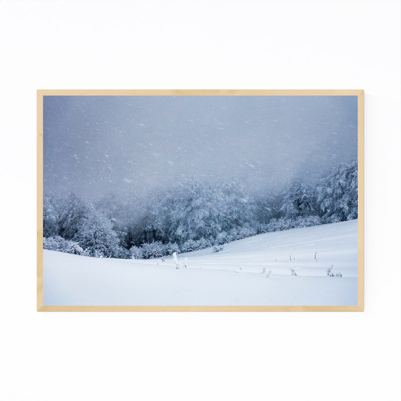 Bulgaria Mountain Winter Framed Art Print
