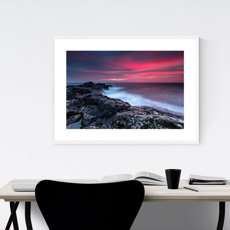 Bulgaria Black Sea Coast Winter Framed Art Print