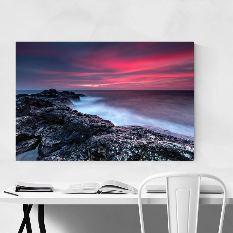 Bulgaria Black Sea Coast Winter Metal Art Print