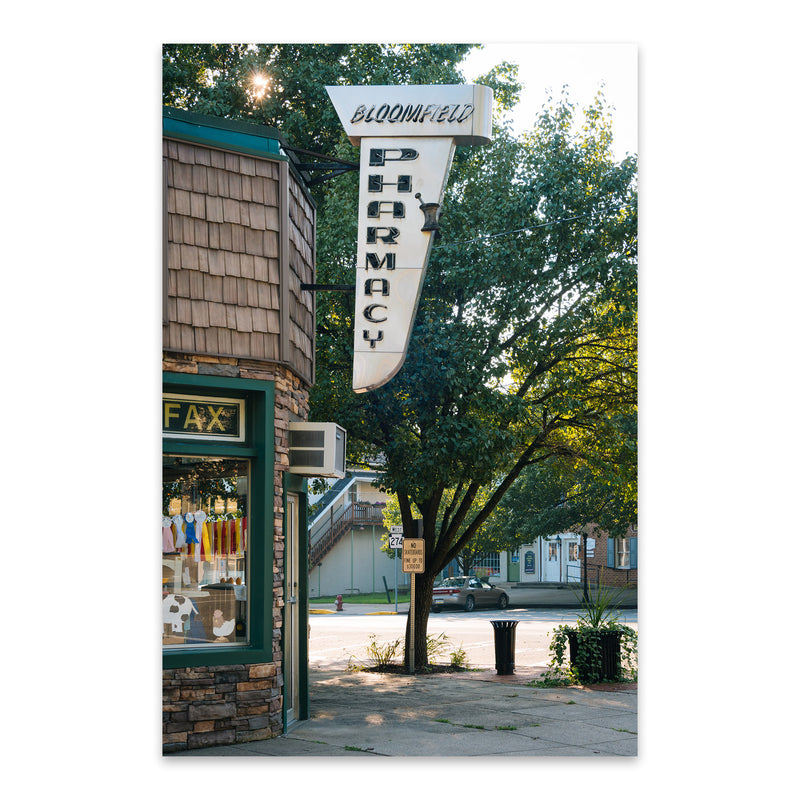 Bloomfield Pharmacy Sign PA Metal Art Print