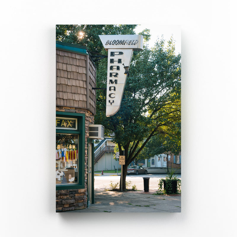 Bloomfield Pharmacy Sign PA Canvas Art Print