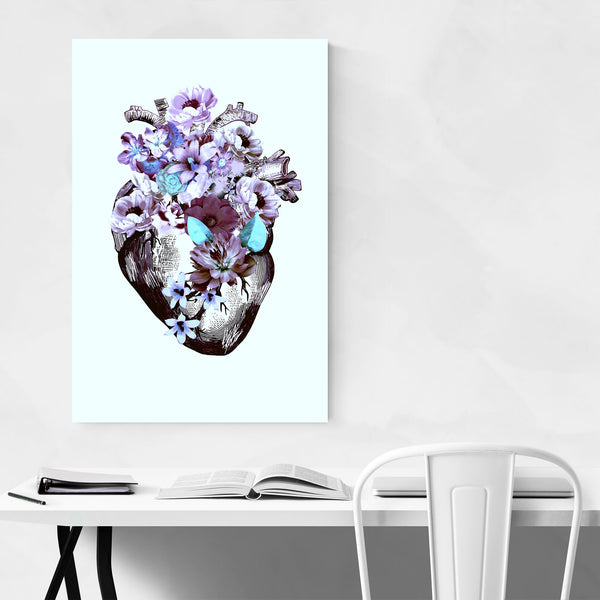 Floral Heart Illustration Art Print