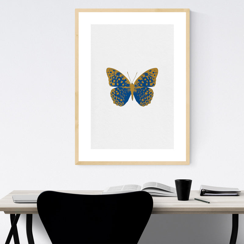 Butterfly Animal Insect Collage Framed Art Print