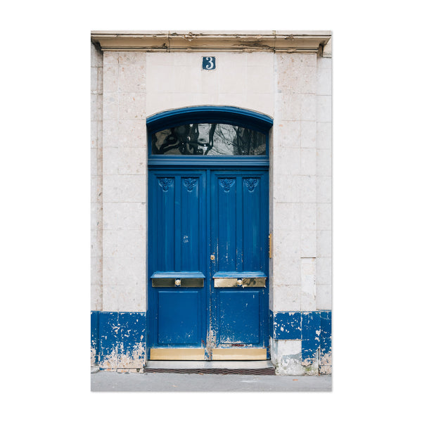 Blue Door Paris France Europe Art Print