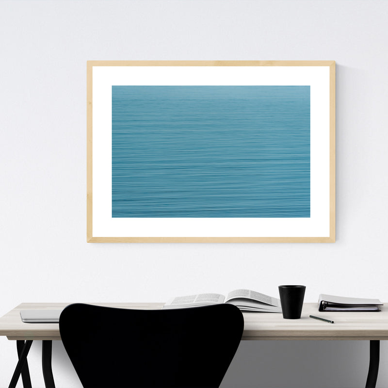 Blue Water Ripples Nature Framed Art Print