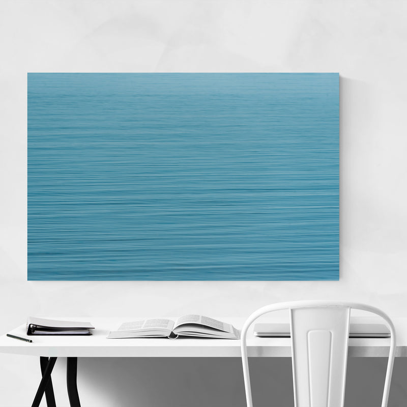 Blue Water Ripples Nature Metal Art Print