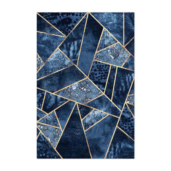 Leaf Geometric Digital Art Deco Art Print