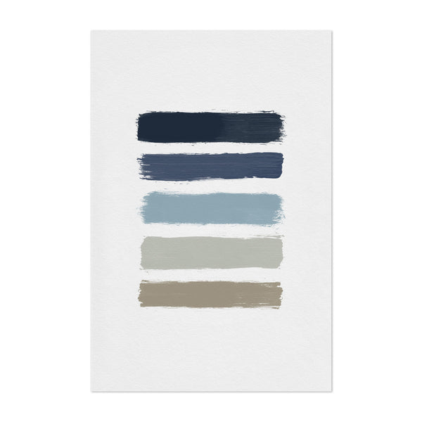 Abstract Minimal Stripe Painting Art Print