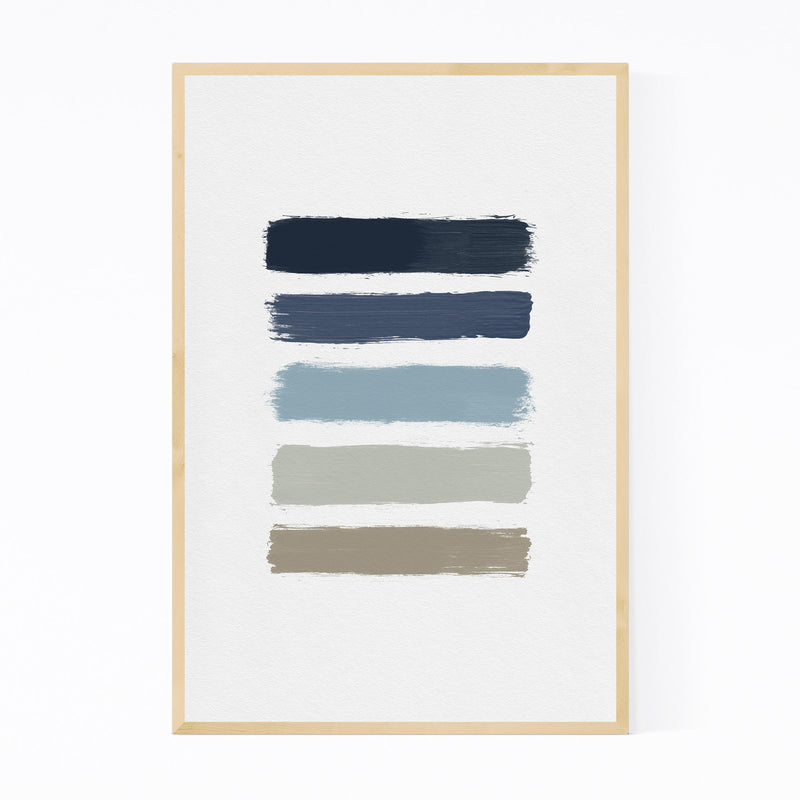 Abstract Minimal Stripe Painting Framed Art Print
