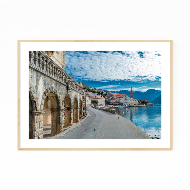 Perast Montenegro Old Town Photo Framed Art Print