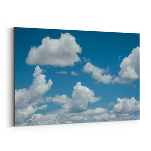 Blue Sky and Clouds Nature Canvas Art Print