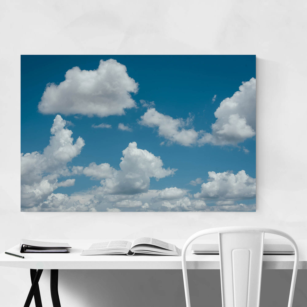 Blue Sky and Clouds Nature Art Print