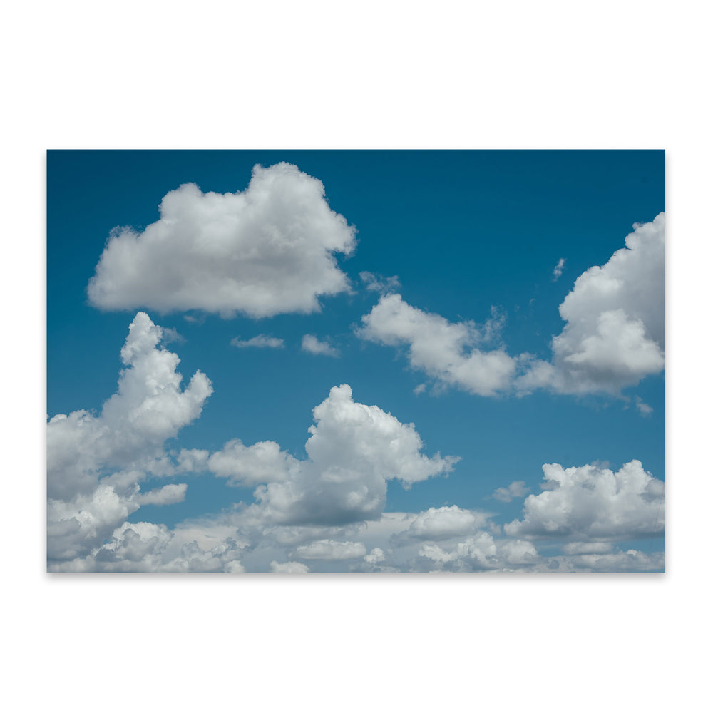 Blue Sky and Clouds Nature Metal Art Print