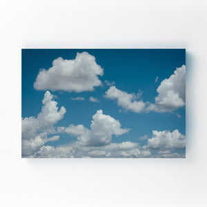 Blue Sky and Clouds Nature Mounted Art Print
