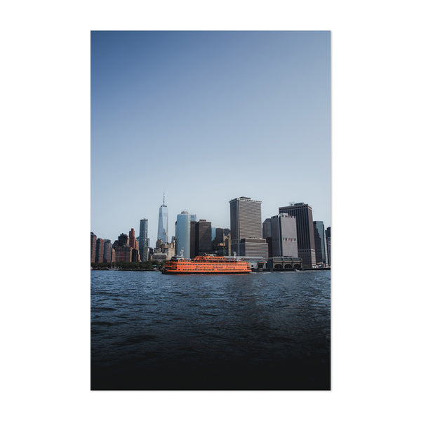 Manhattan Skyline Hudson NYC Art Print