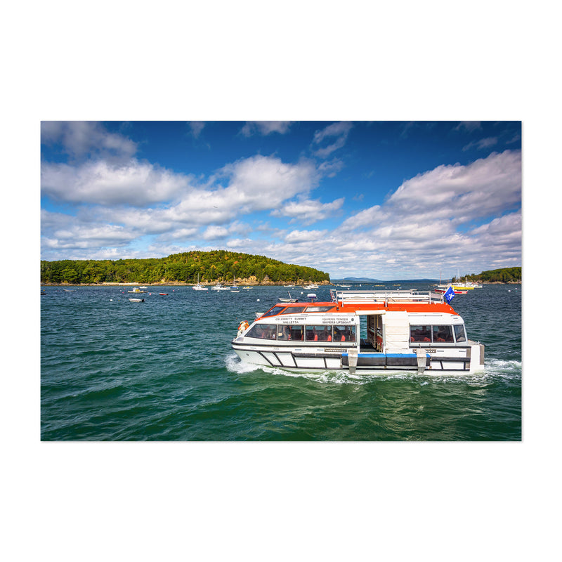 Bar Harbor Acadia Maine Boats Art Print