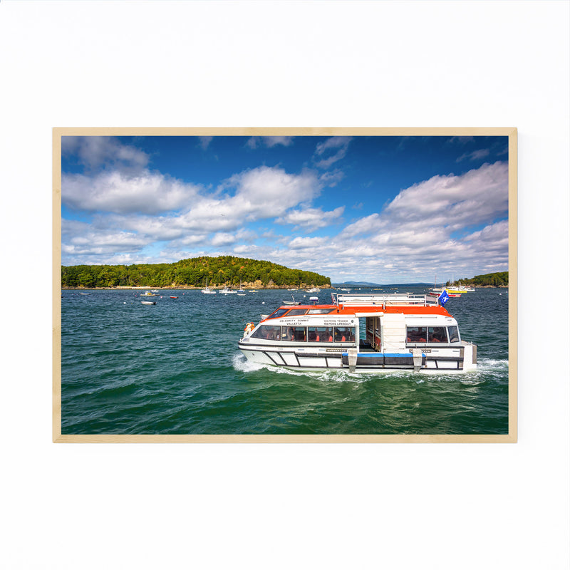 Bar Harbor Acadia Maine Boats Framed Art Print