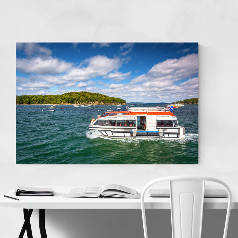Bar Harbor Acadia Maine Boats Canvas Art Print