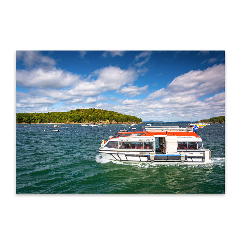 Bar Harbor Acadia Maine Boats Metal Art Print