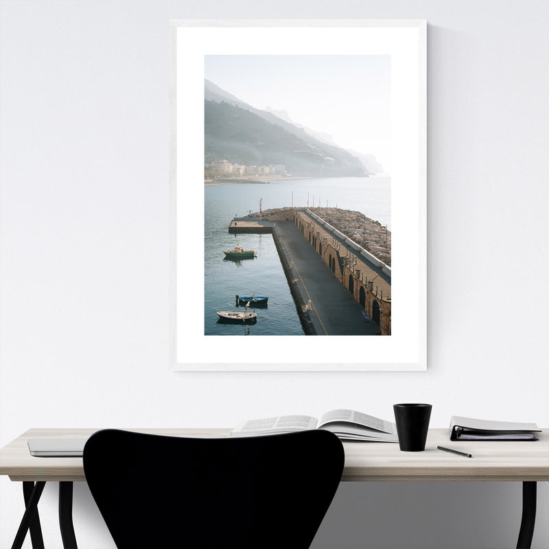 Maiori Amalfi Coast Italy Photo Framed Art Print