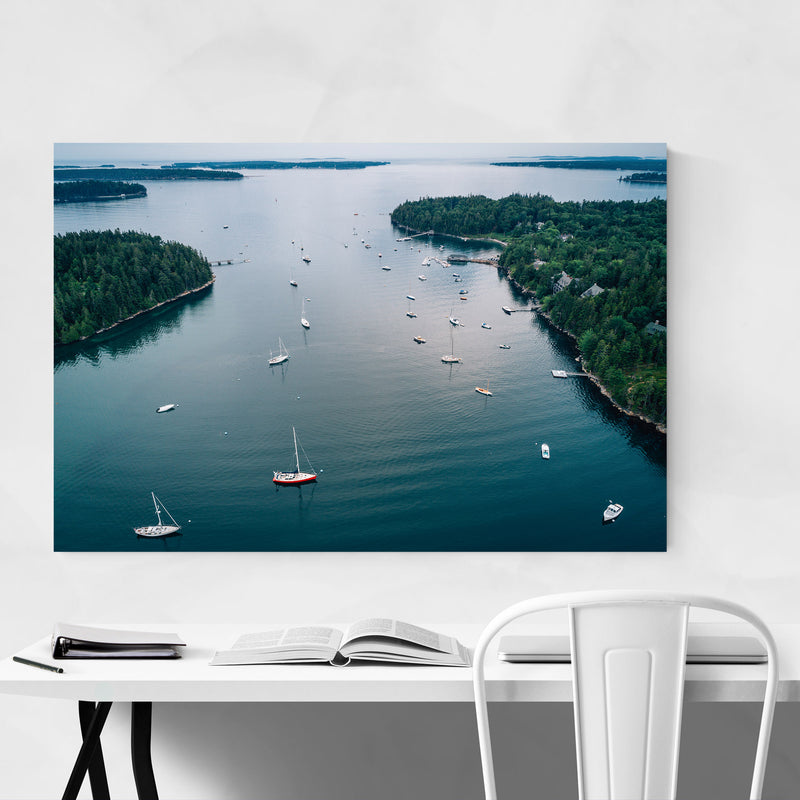 Northeast Harbor Boats Maine Canvas Art Print