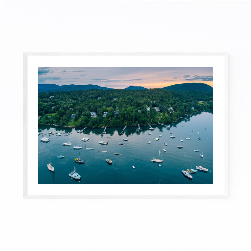 Northeast Harbor Boats Maine Framed Art Print