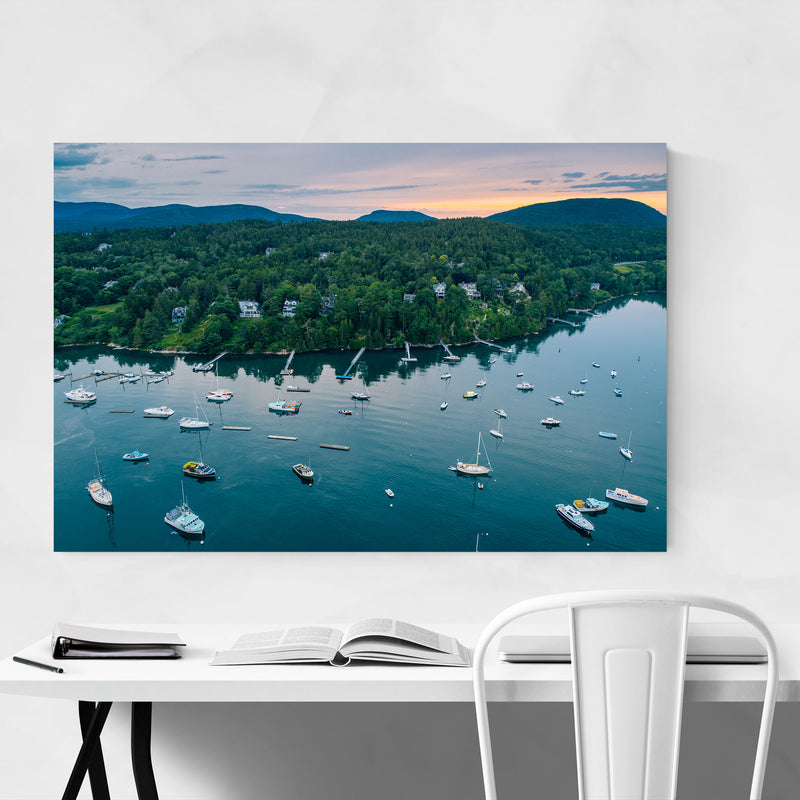 Northeast Harbor Boats Maine Art Print
