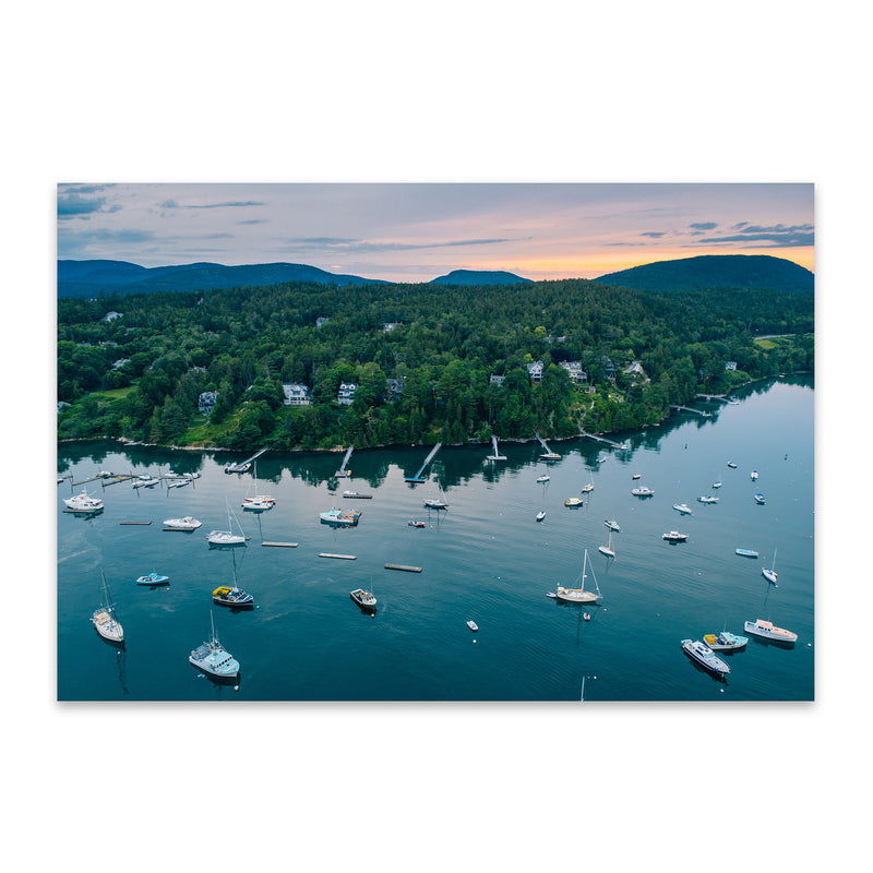 Northeast Harbor Boats Maine Metal Art Print