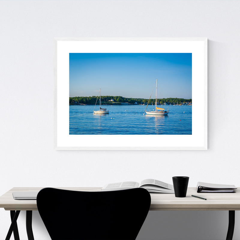 Portsmouth New Hampshire Boats Framed Art Print