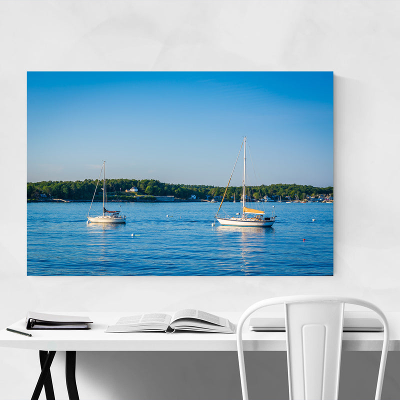 Portsmouth New Hampshire Boats Canvas Art Print